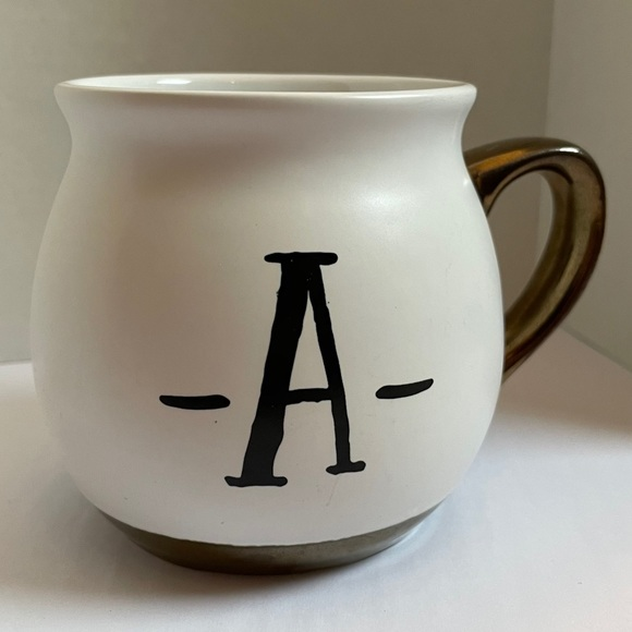 Threshold Letter A Mug Metallic Bronze Accent